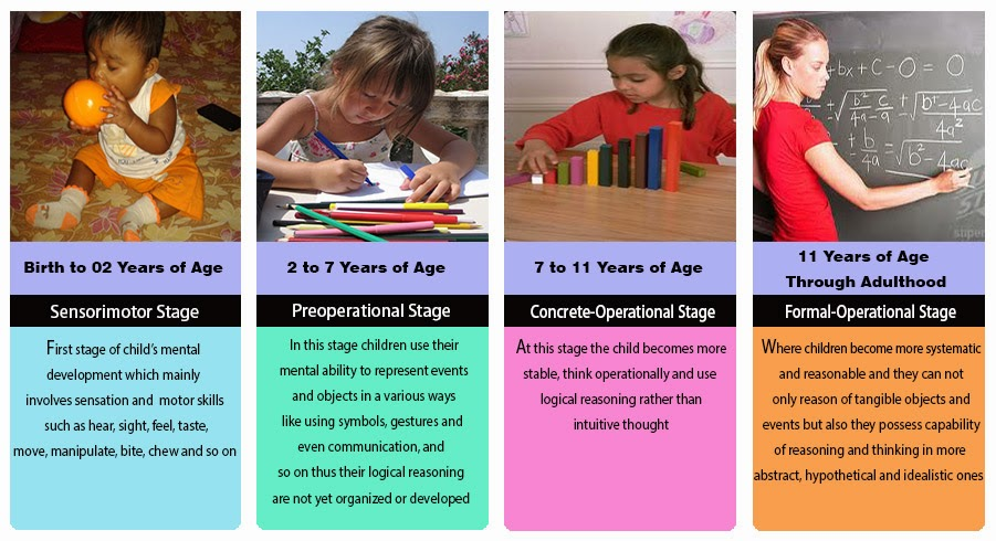 the different stages of the cognitive development of children Even when it looks like preschoolers are just playing, their brains are hard at work here are play ideas to support preschoolers' cognitive development.